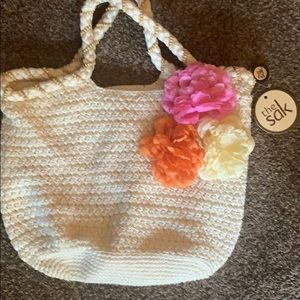 NWT.  The SAK  Flora Seashell crochet knit bag